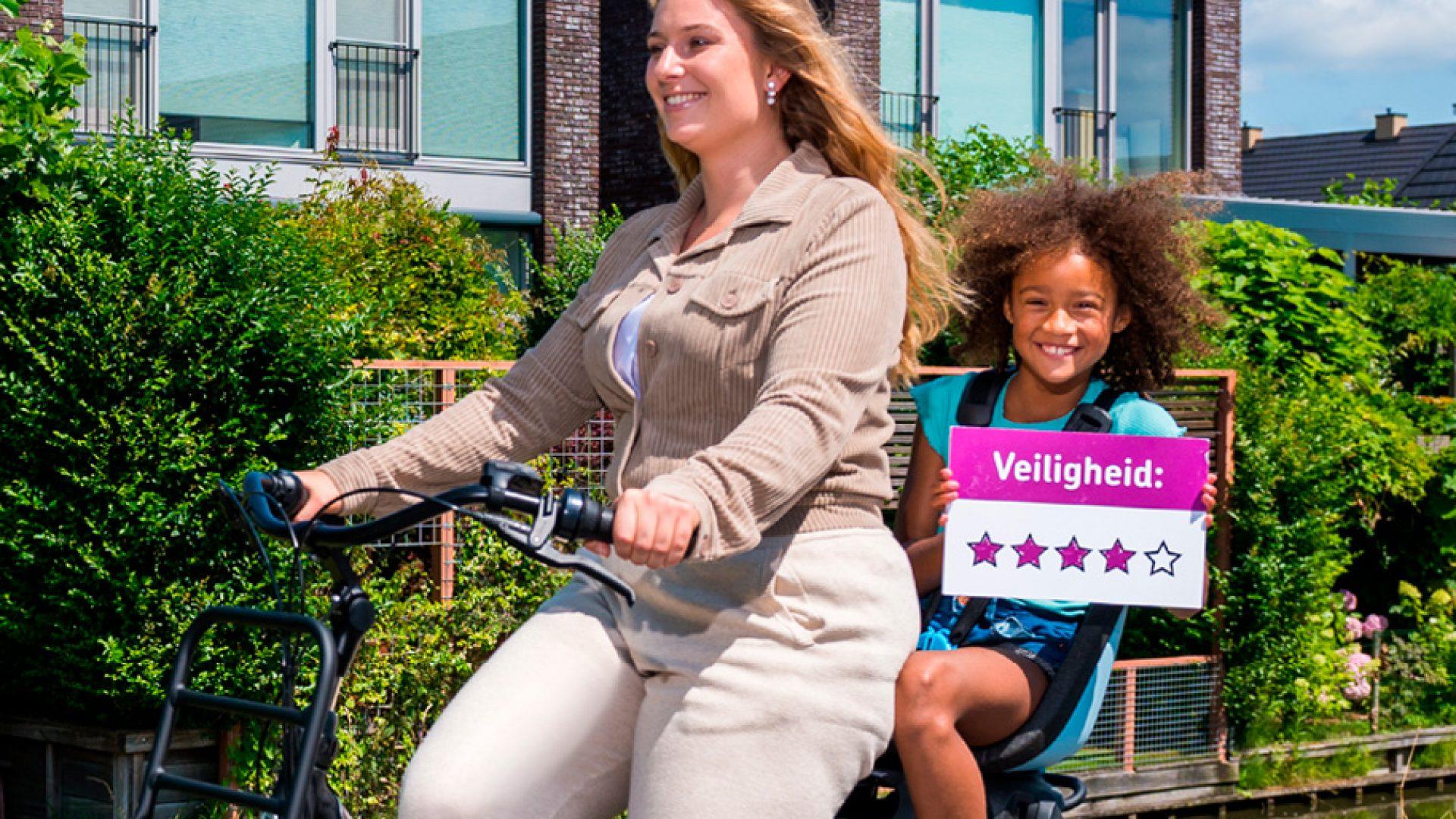 Key visual werving moeders voor enquête fietsersbond