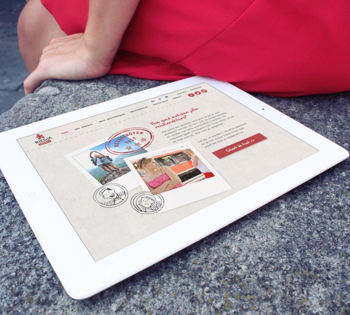 Mockup Online test - reisgenotentest trekt aandacht en creëert daardoor leads
