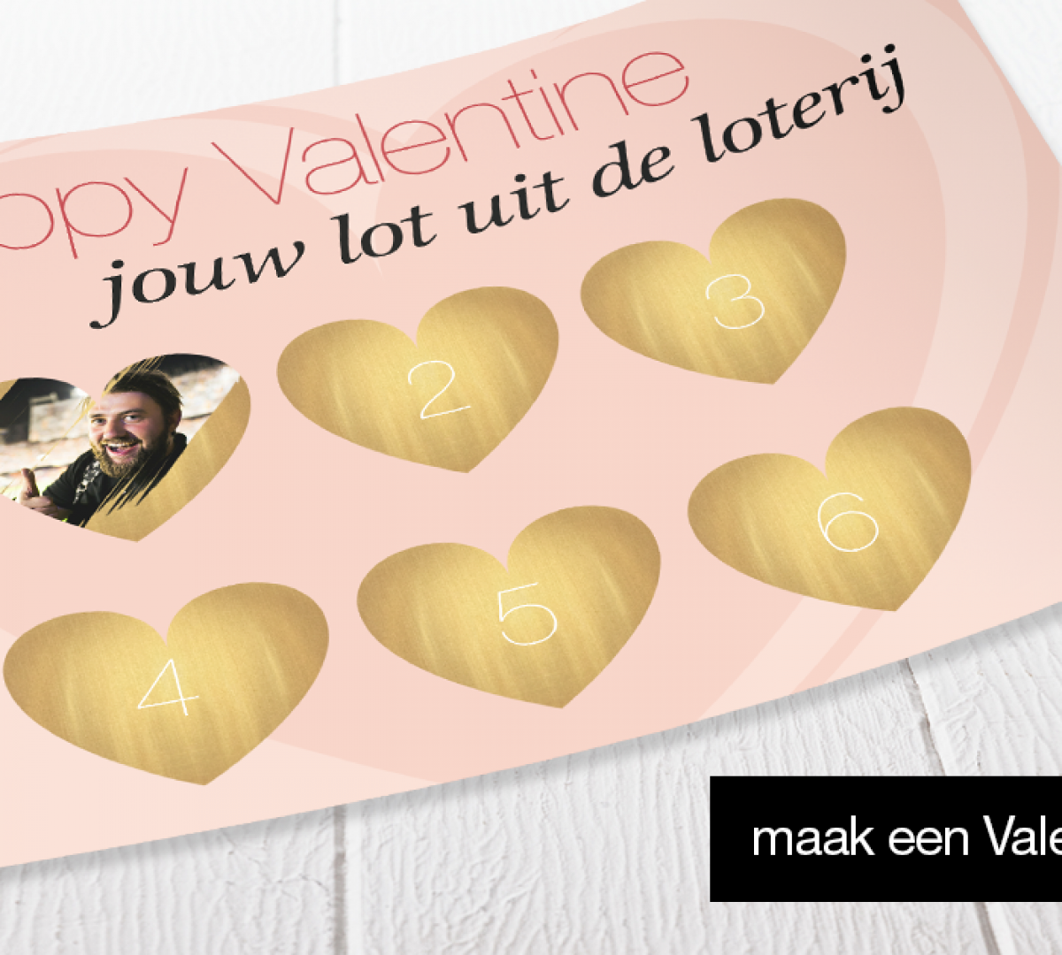 Bijenkorf valentijnsdag kraskaart