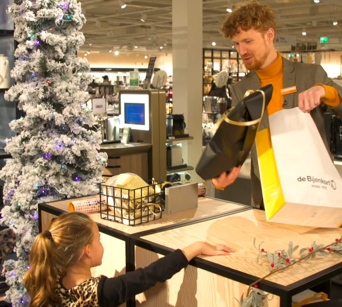 Kerstcampagne van de Bijenkorf
